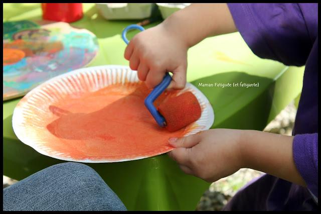 peinture rouleau orange