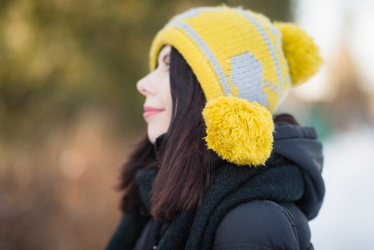 czapka z pomponami blog modowy