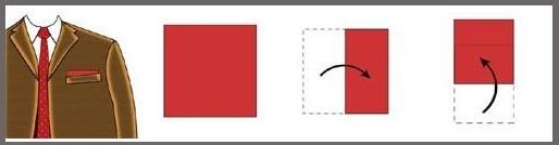 как складывать платок паше в пиджак квадрат
