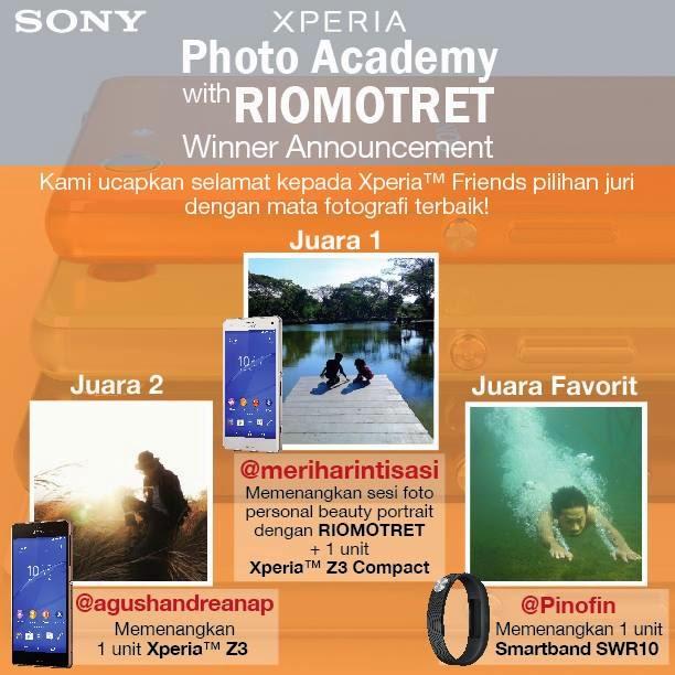 Pemenang Kontes Xperia Photo Academy with RIOMOTRET