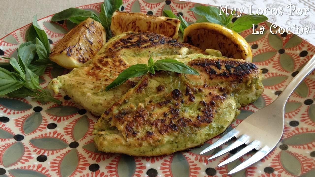 Pechuga de Pollo Marinada con Albahaca y Limón
