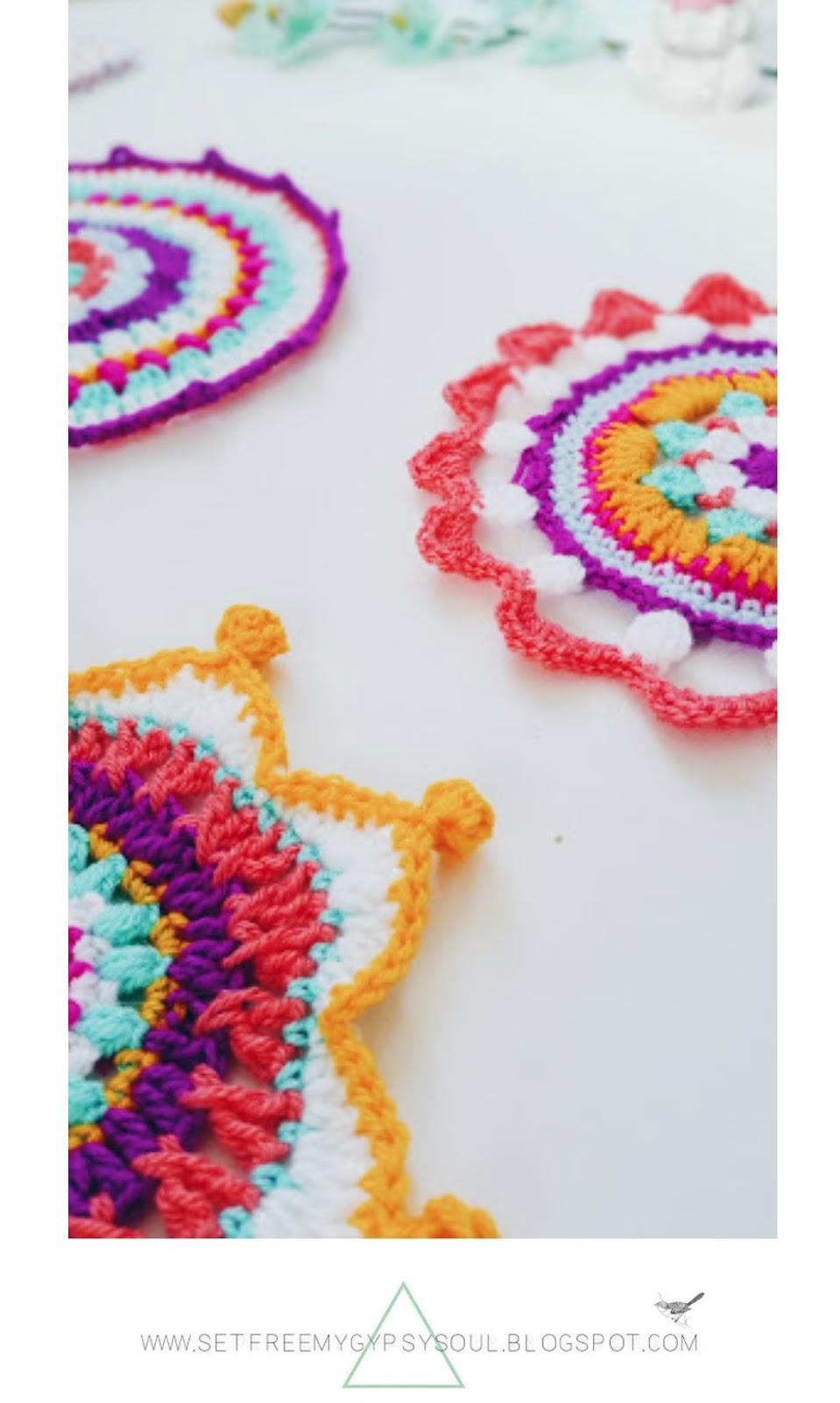 free crochet bohemian mandala pattern