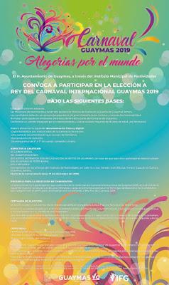 convocatoria rey carnaval guaymas 2019