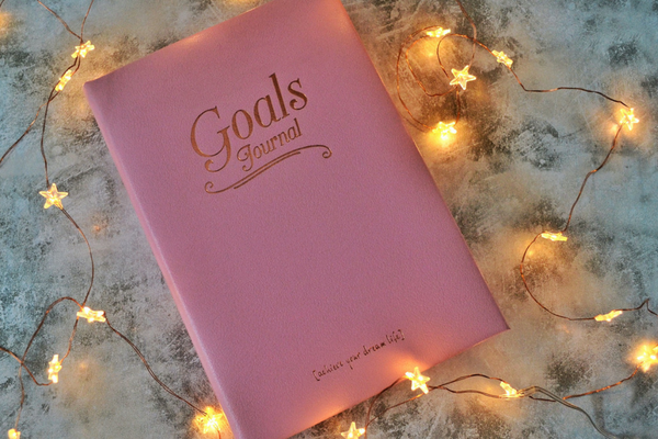 Leather Goals journal notebook