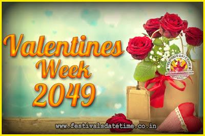 2049 Valentine Week List : 2049 Valentine Week Schedule, Hug Day, Kiss Day, Valentine's Day 2049
