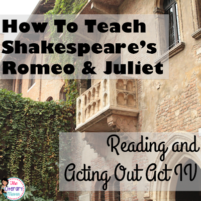 Whether you are a teacher tackling William Shakespeare's play Romeo and Juliet for the first time or you are a veteran looking to change how you've taught it in the past, it is always helpful to find out how another teacher plans it all out. Read on to find out what scenes I focus on in Act IV and why, how my students read and act out those scenes, and what activities I use to extend learning and make connections.