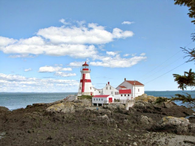 East Quoddy Lighthouse on Campobello Island, NB, Canada