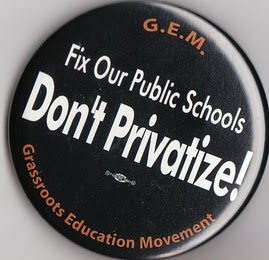 Fix our Public Schools, don't Privatize!