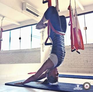 cursos formacion aero yoga y aero pilates paraguay, latino america, air yoga, fly, flying, columpio
