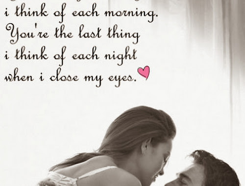 Romantic Love Quotes And Love Messages For Him Or For Her.