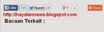 Cara pasang tombol like, share dan tweet di blog