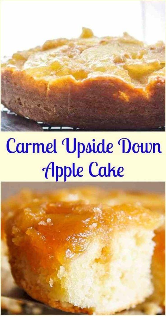 Caramel Upside Down Apple Cake