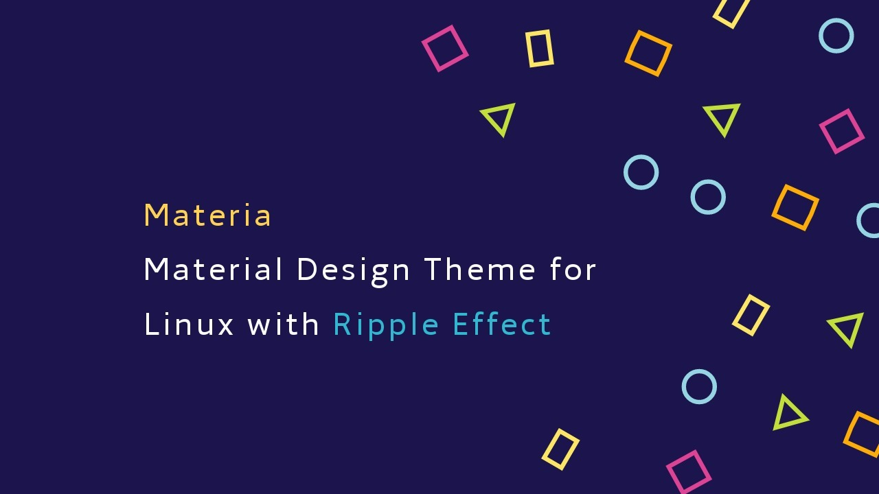 Install Materia Theme - Beautiful Material Theme For Linux Installation Guide