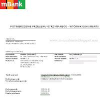 mBank — dowód wypłaty z 12-01-2015, program partnerski