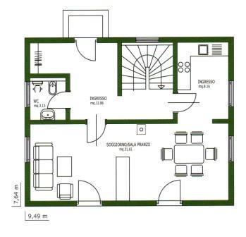 Infocasa calcolo della superficie commerciale di un immobile for Planimetria di una casa