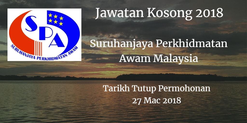 Jawatan Kosong Suruhajaya Perkhidmatan Awam Malaysia 27 Mac 2018