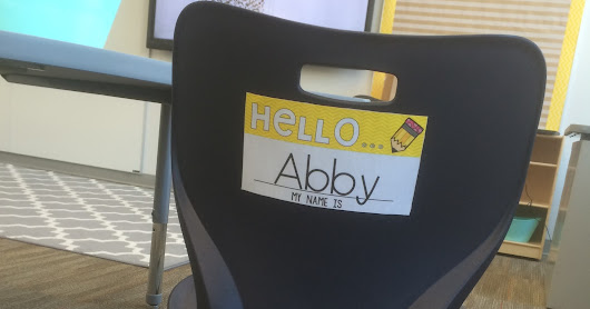 Falling Into First: Name Tags for Student Chairs