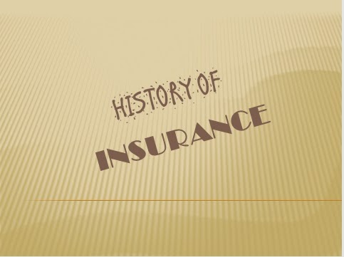Image result for history of insurance