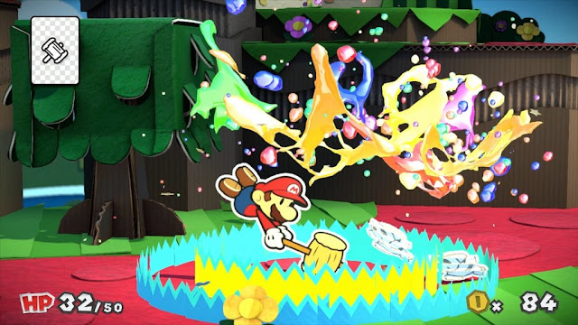 Mira este corto de las tomas descartadas de Paper Mario: Color Splash