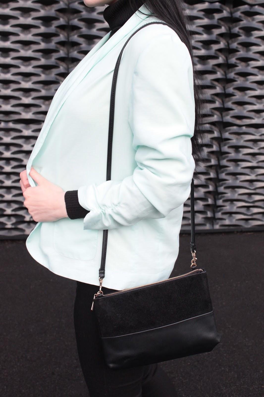 mint jacket l miętowa marynarka l minimal outfit
