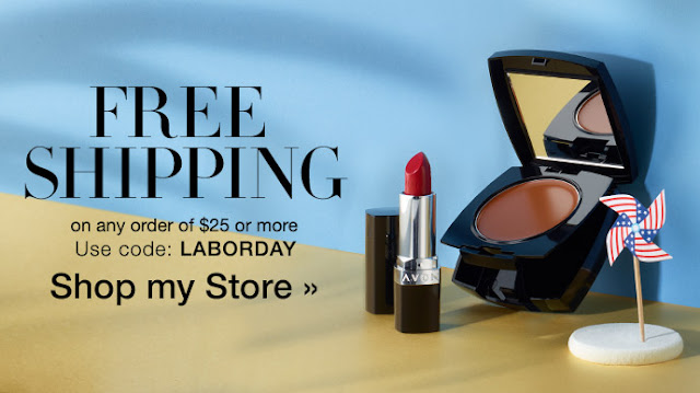 FREE SHIP LaborDay coupon code Avon