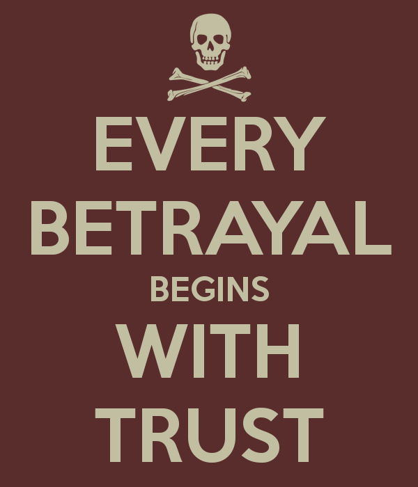 betraying trust in a new relationship