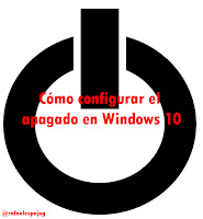 como configurar el apagado en windows 10