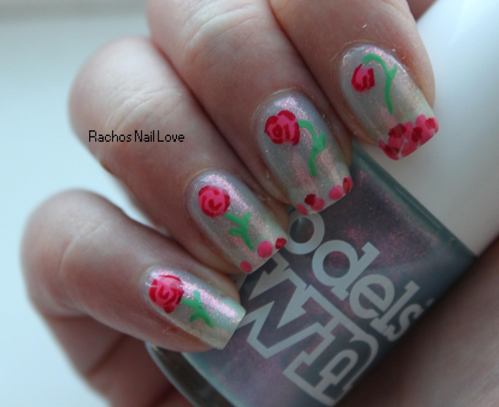 Rachos Nail Love Disney Nail Art Challenge Day 5 Beauty And