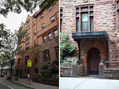 Photo of enlargement at back of mansion next to photo of side entrance