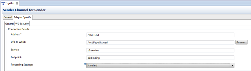 Nice Change the settings of the Receiver Enter the address of your web service on your on premise system