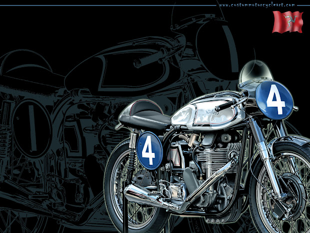 Vintage Classic Motorcycle Art