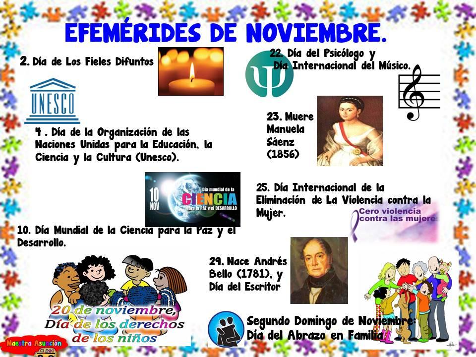 Maestra Asunción Carteleras Efemérides De Noviembre