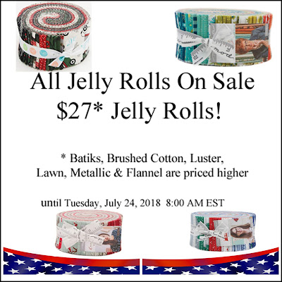 $27 Jelly Rolls at Crazy Quilt Girl Fabric Shop