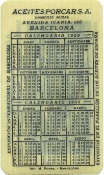 Calendario 1929.Mr Wolf S Collectors Club Calendario Aceites Porcar S A 1929