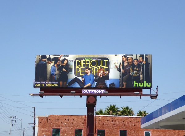 Difficult People season 2 Hulu billboard