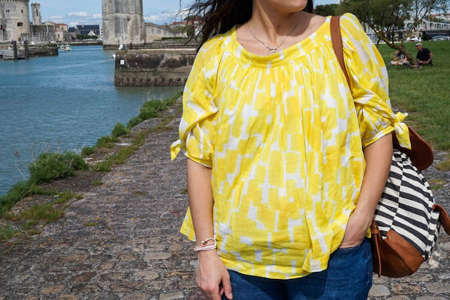 photo détail blouse jaune see by chloe