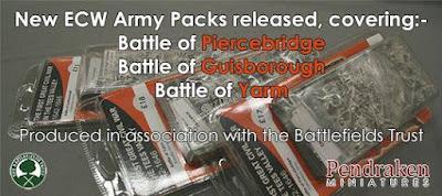 Battlefield Trust ECW Battle Packs Released from Pendraken Miniatures