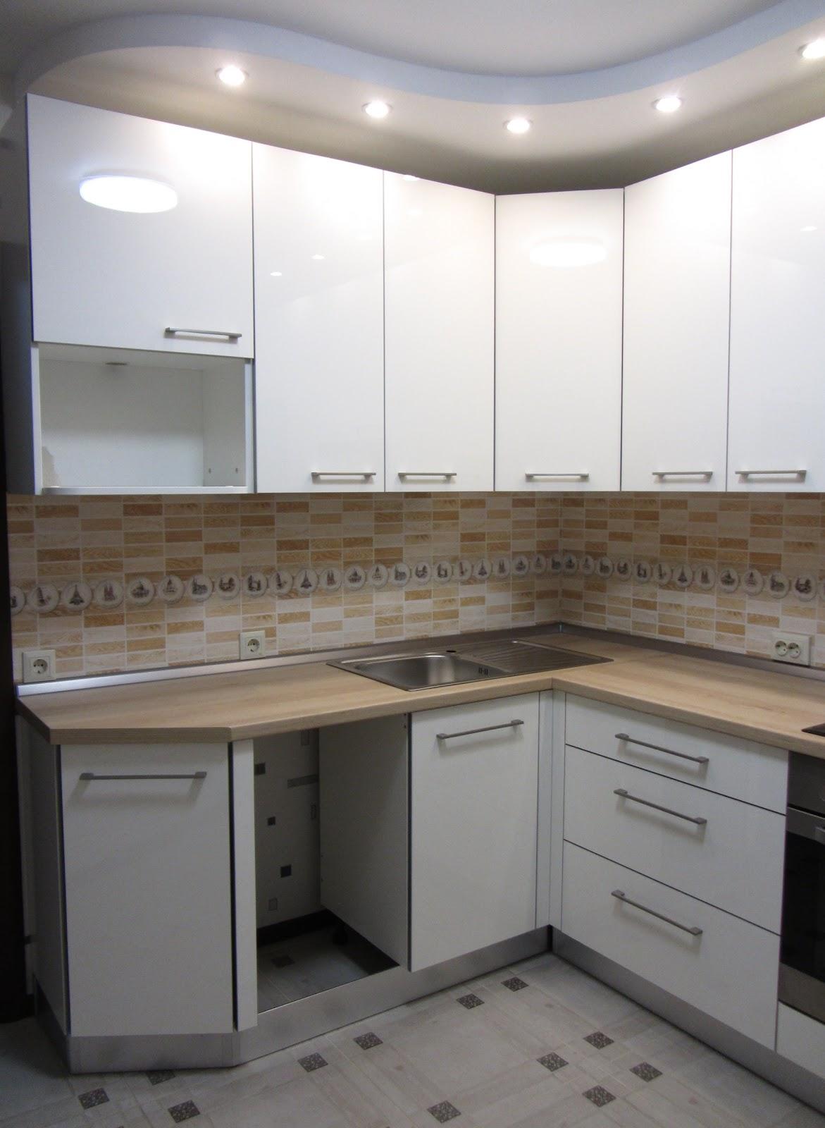 Kухни и корпусная мебель под заказ стильная белая угловая кухня