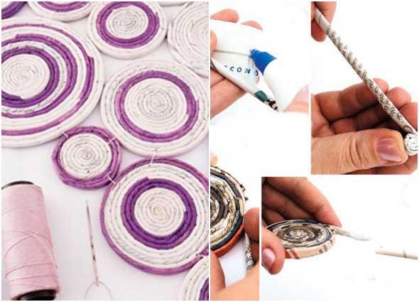 cabecero, decoracion, reciclar, papel, manualidades, diys