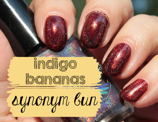 Indigo Bananas Synonym Bun swatches and review