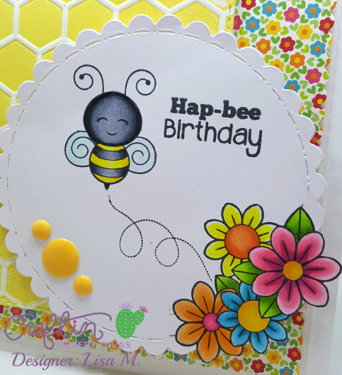 created In the Crafting Cave with Lisa using Craftin Desert Divas Busy Bee