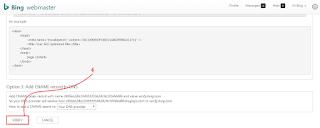 #Gambar 6 Cara Verifikasi Blog Ke Bing Webmaster