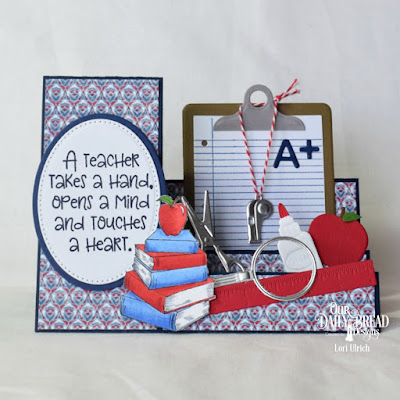 Our Daily Bread Designs Stamp Set: Class Act, Stamp/Die Duos: Notebook Paper,  Custom Dies: Clipboard Set, A+ Apples, Pierced Ovals, Ovals, Paper Collection: Americana Quilt