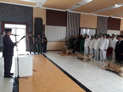 Sebanyak 34 Pejabat Eselon III dan IV Resmi di Lantik