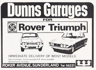 Dunns Garages RoverTriumph advert 1973