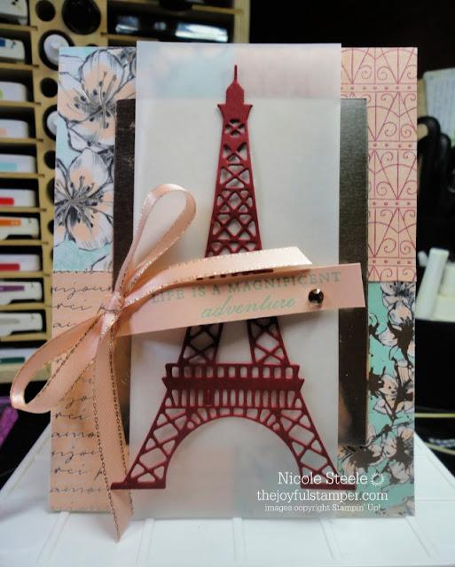 Parisian Blossoms suite card | Parisian Blossoms Designer Series Paper | Champagne Foil
