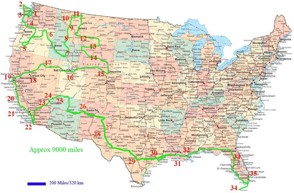 map of northwest united states and caa