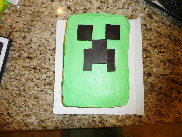 minecraft party ideas and cake