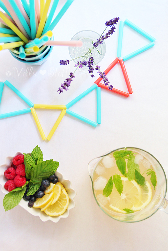 Rezept für selbst gemachte Zitronen-Lavendel-Limo