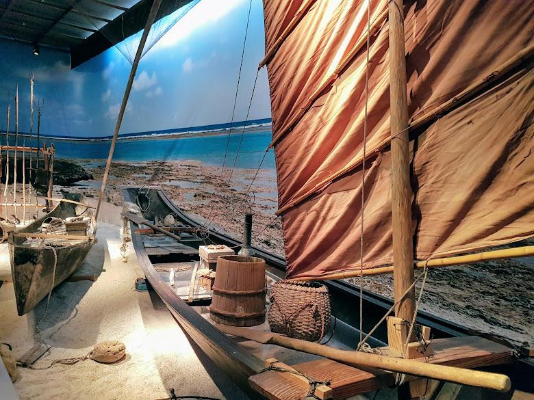 沖繩傳統的捕魚船